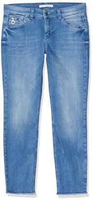 M·A·C MAC Jeans Women's Slim Fringe Straight Jeans,36W x 29L