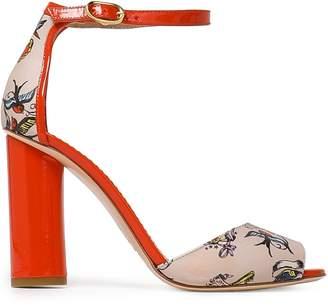 Red(V) Red(v) Printed Leather Sandals