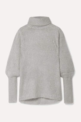 Apiece Apart Valencia Open-knit Turtleneck Sweater - Gray