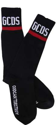GCDS Logo Ribbed Socks