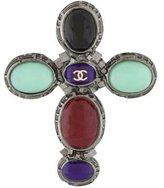 Chanel CC Gripoix Cross Brooch