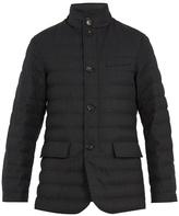 Ermenegildo Zegna High-neck quilted-wool field jacket