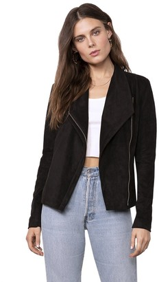 BB Dakota Whatever It Snakes Faux Suede Jacket
