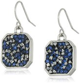 """Kenneth Cole New York Blue Sprinkle Stone"""" Mixed Sprinkled Stone Silver Drop Earrings"""