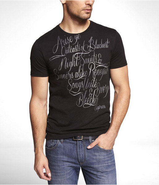 Express Fitted Graphic Tee - Blackest Night