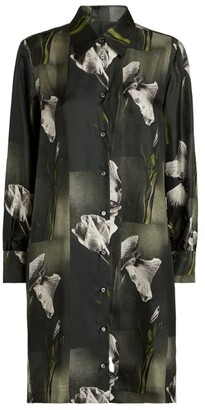 Max Mara Silk Floral Shirt Dress