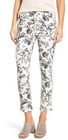 KUT from the Kloth Women's Reese Release Hem Floral Straight Leg Jeans