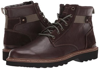 Rockport Peirson Plain Toe Boot (Java Leather/Suede) Men's Shoes