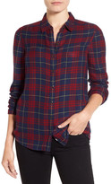 Caslon Classic Plaid Shirt (Petite)
