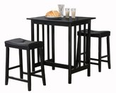 Homelegance 5310BK-MTL 3-Piece Counter Table and Stools in Black