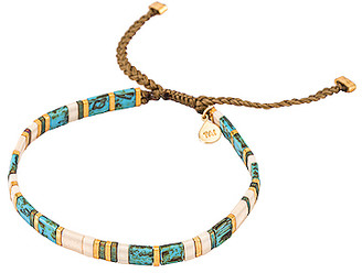Tai Handmade Beaded Bracelet with Gold Accents