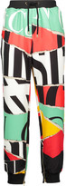 Moschino Printed stretch-jersey tapered pants
