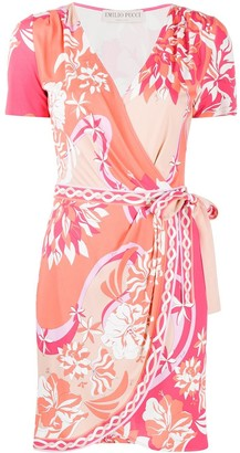 Emilio Pucci Floral-Print Wrap Dress