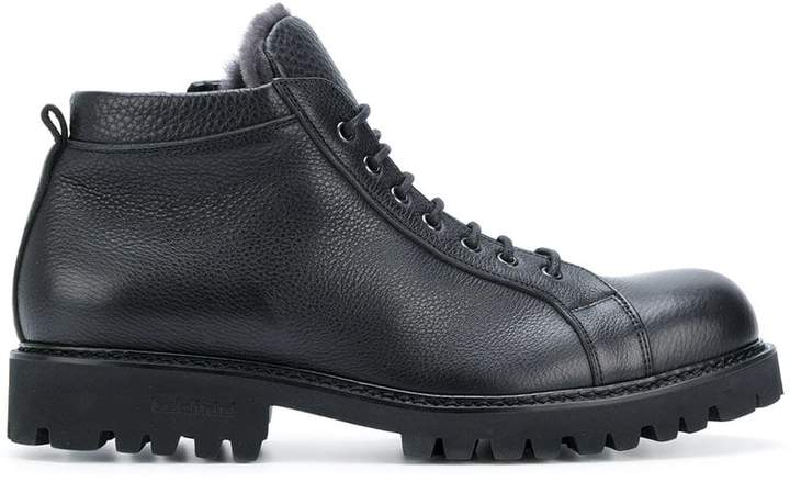 Baldinini shearling lined crocodile effect boots