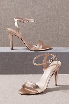 BHLDN Janel Heels By in Gold Size 10