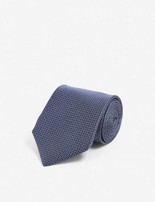 Corneliani Monogram-print silk tie