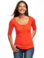 Old Navy Semi-Fitted Henley for Women