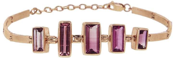 Celine Daoust Pink Tourmaline Baguette Bracelet