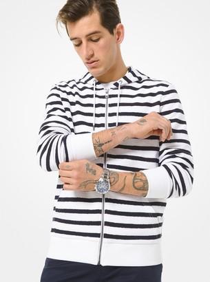 Michael Kors Striped Cotton Zip-Up Hoodie