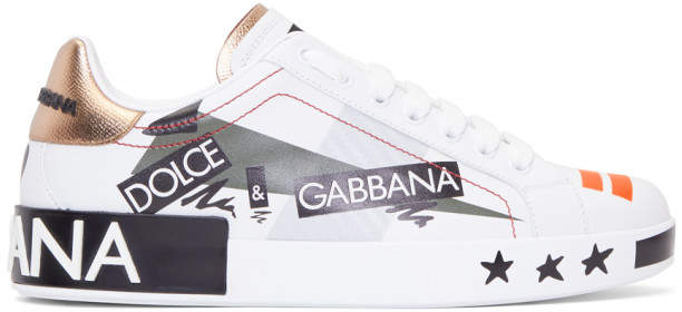 Dolce & Gabbana White Millennials Sneakers