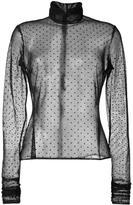 Elie Saab sheer polka dot blouse