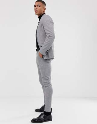 Selected skinny suit pants in gray