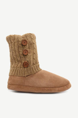 Ardene Faux Suede Moccasin Slippers