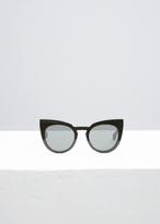 Maison Margiela Raw Black Mykita X Margiela Cat Eye Round Sunglasses