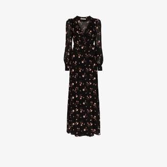 Reformation Shanti wrap maxi dress