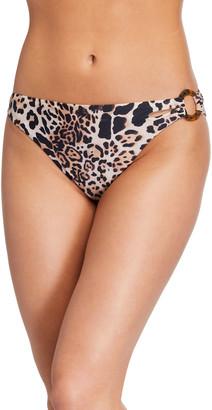 Letarte Cabo Leopard-Print Bikini Bottom