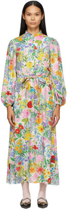 Gucci White Ken Scott Edition Silk Print Dress