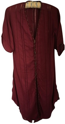 Vix Paula Hermanny Burgundy Cotton Dress for Women