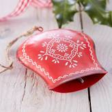 The Christmas Home Christmas Cow Bell Decoration