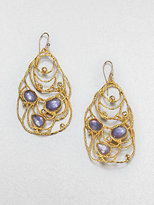 Alexis Bittar Iolite and Mother-of-Pearl Lace Earrings