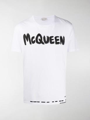 Alexander McQueen logo print T-shirt