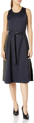 Ellen Tracy Women's Petite Size D-Ring Column Dress