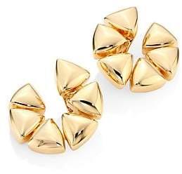 """Vhernier Women's Freccia Medium 18K Rose Gold Clip-On Hoop Earrings/1"""""""