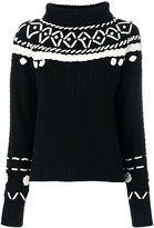 Michel Klein embroidered high neck jumper