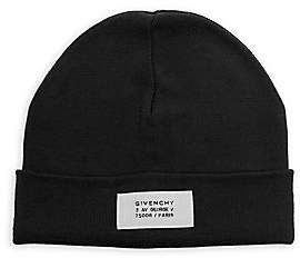 Givenchy Men's Wool Blend Logo Patch Beanie