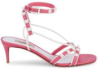 Valentino Embellished Leather Heeled Sandals