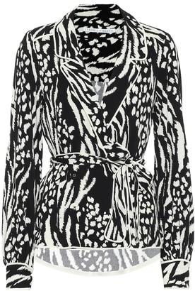 Veronica Beard Clive printed crepe blouse