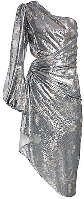 Johanna Ortiz Glassy Orchid One-Shoulder Sequin Dress