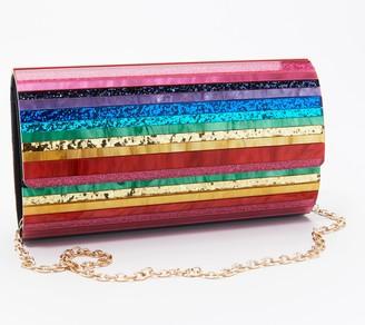Sondra Roberts Multicolored Foldover Clutch