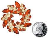 BEADSLAND Women 's Brooch With Fashion Jewelry Rhinestone Bling Crystal Bauhinia Flower Design