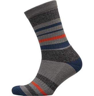 adidas Mens Striped Wool Golf Crew Socks Grey Heather