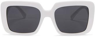 Versace Medusa Jewel Sunglasses in White   FWRD