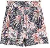 H&M Wide-cut Shorts - Dark blue/floral - Ladies