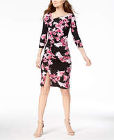 INC International Concepts I.n.c. Petite Printed Ruched Midi Dress, Created for Macy's