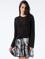 Stolen Girlfriends Club Black Mean-Reno Crop Knit Top