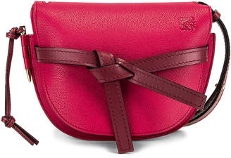 Loewe Gate Small Bag in Raspberry & Wine | FWRD